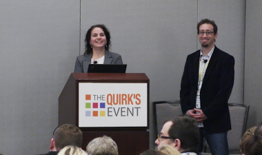 Steve August, Chief Information Officer at FocusVision presents with Facebook at Quirks 2016