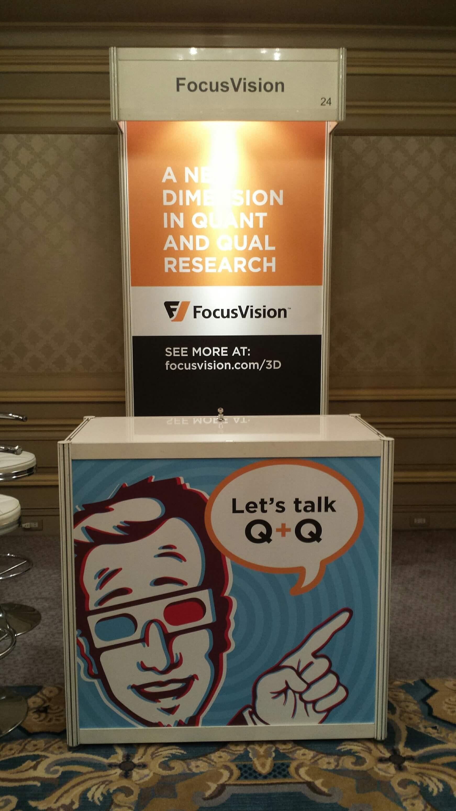 FocusVision Booth Exhibit at ESOMAR APAC 2016