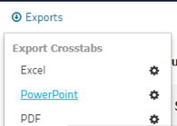 Decipher export to PowerPoint feature.