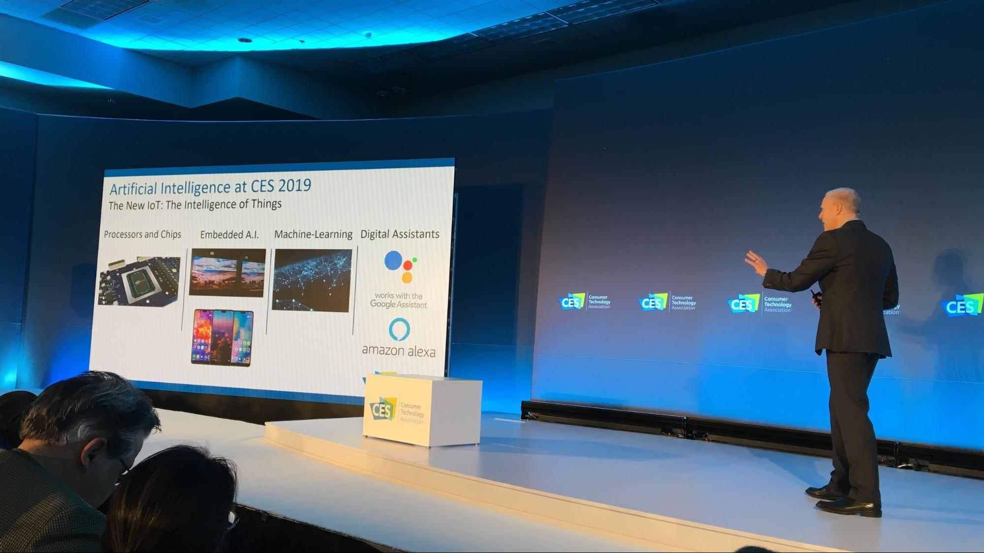 Artificial Intelligence presentation at CES 2019.