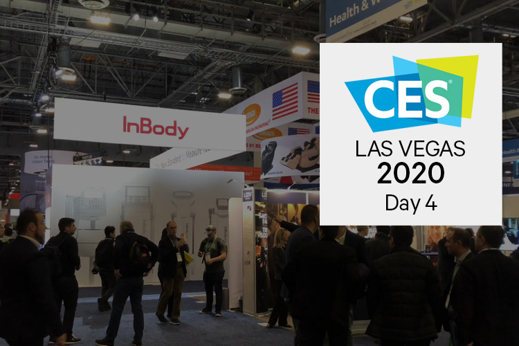 CES 2020 conference floor in this video blog from day four.