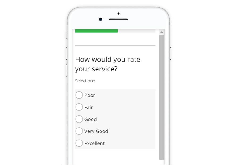 Guide to Designing Mobile Surveys A 5 point horizontal scale may need to be vertically oriented in order to fit