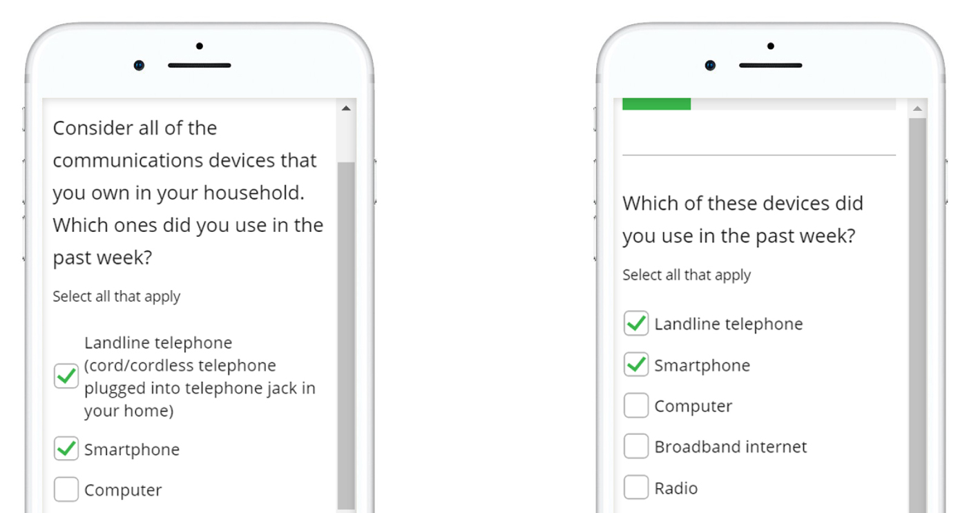 Guide to Designing Mobile Surveys The mobile device may rescale a web page